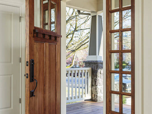 Calgary wood front doors